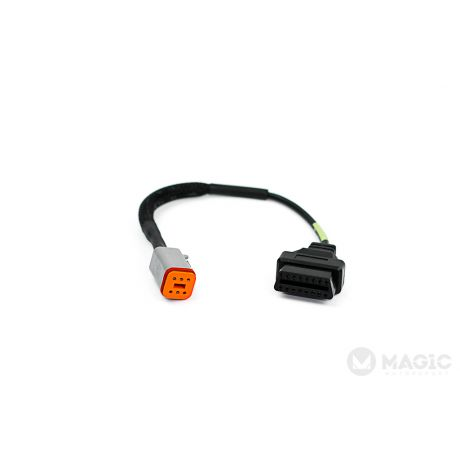 Connection cable: OBD Female to 6 Pins HD